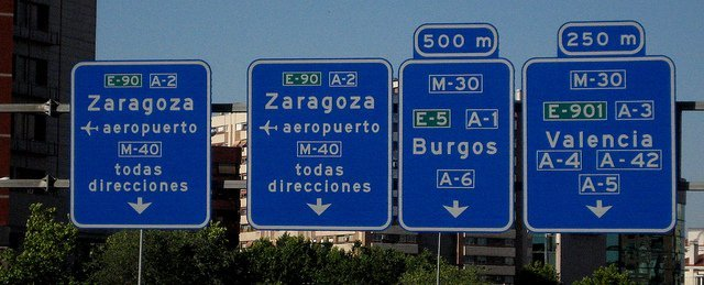 Spanish Road Numbers