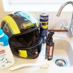Equipment for cleaning your motorcycle helmet