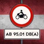Austrian Road Sign showing Noise Limit