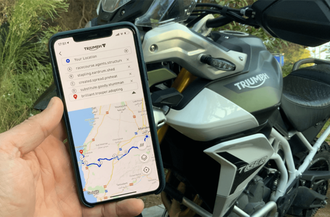 My Triumph App and What3Words