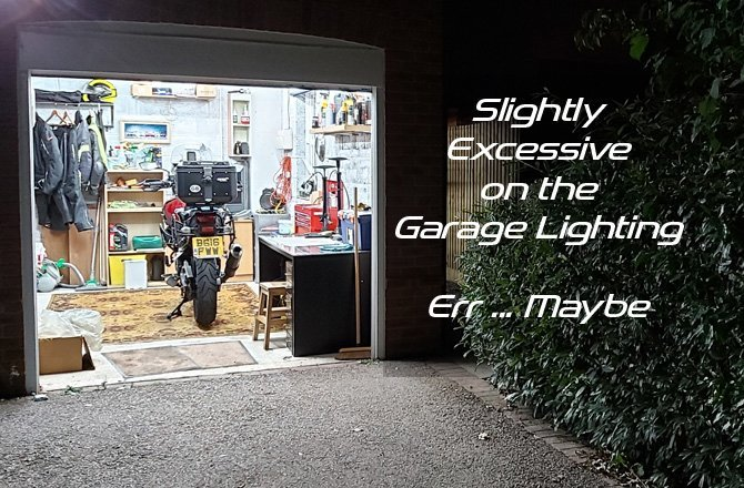 Garage Lighting: Are 13,200 Lumens too much?
